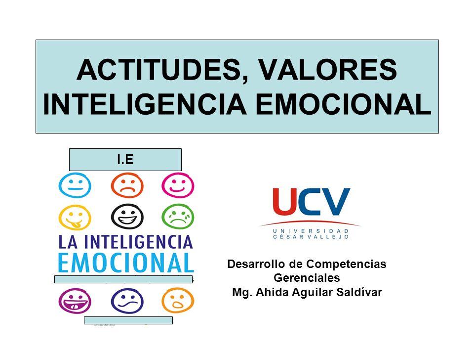 ACTITUDES, VALORES INTELIGENCIA EMOCIONAL