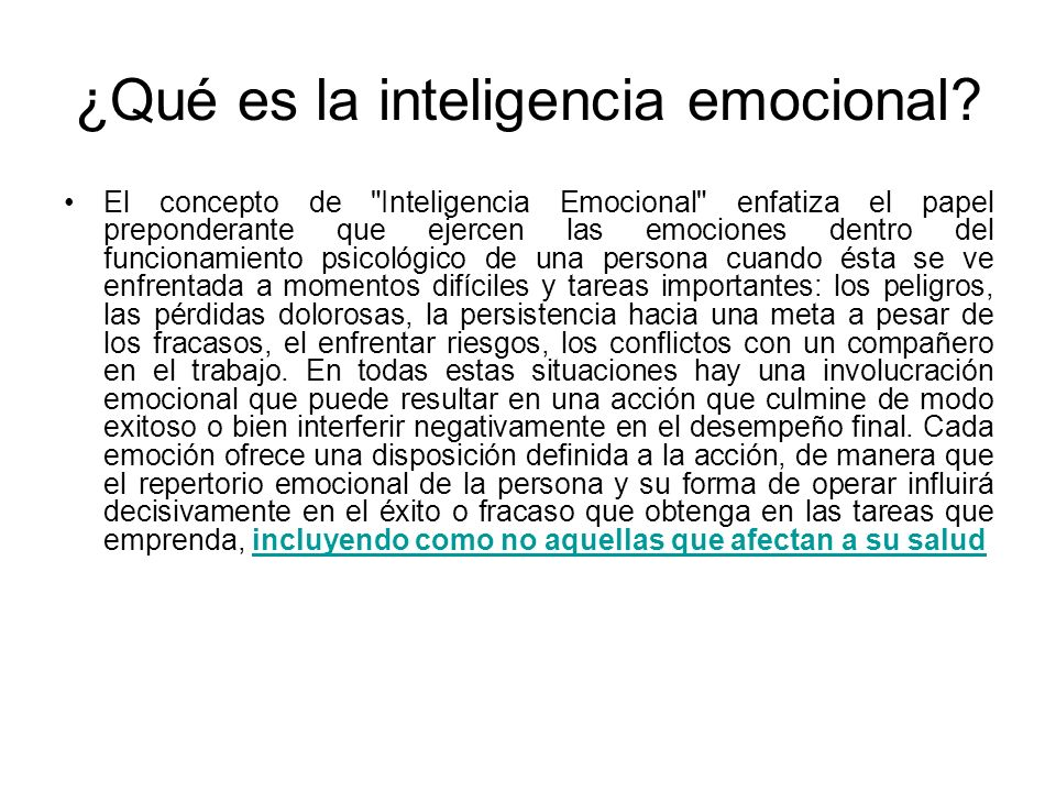 ¿Qué es la inteligencia emocional