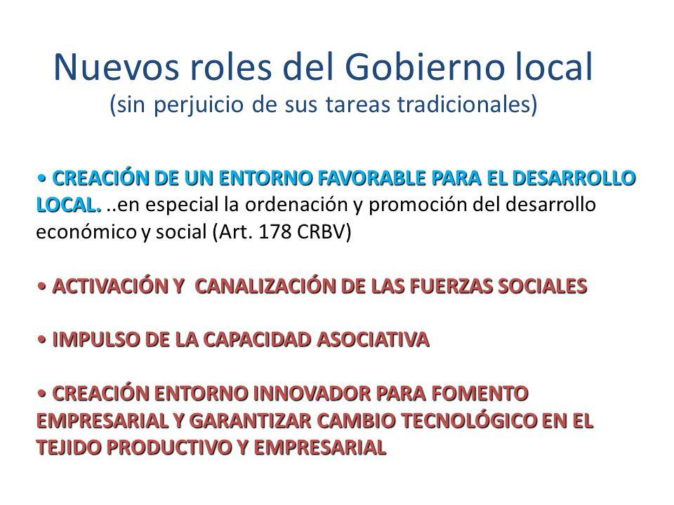 Nuevos roles del Gobierno local