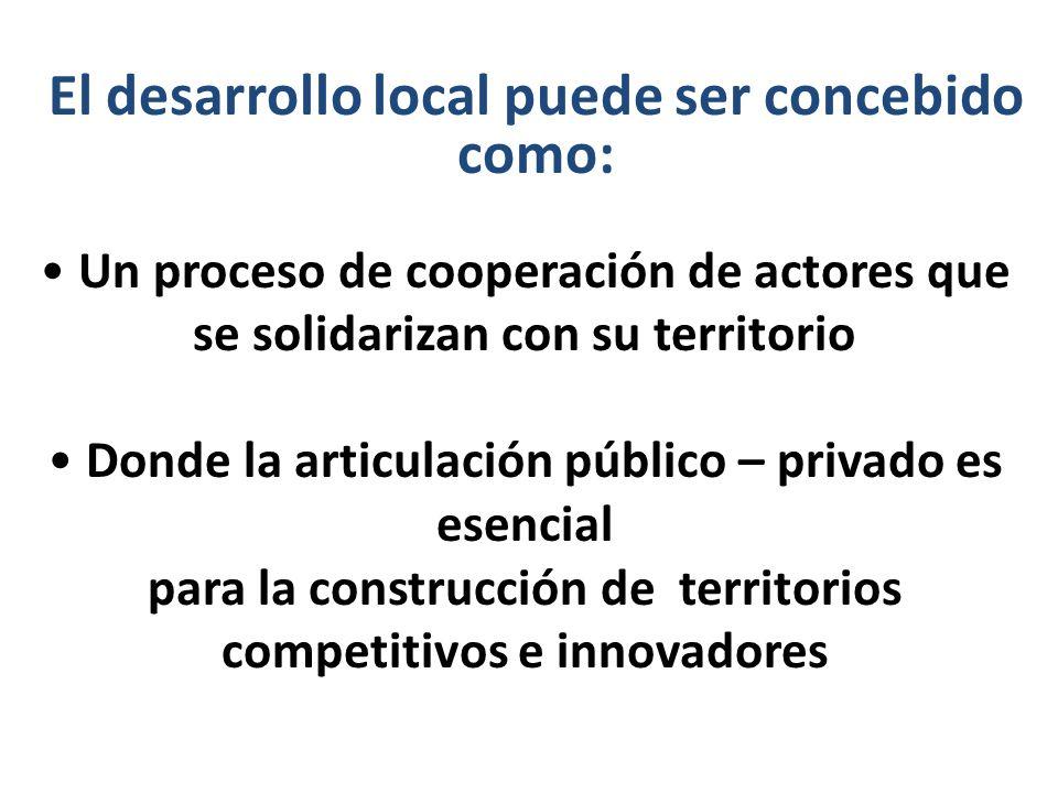 El desarrollo local puede ser concebido como: