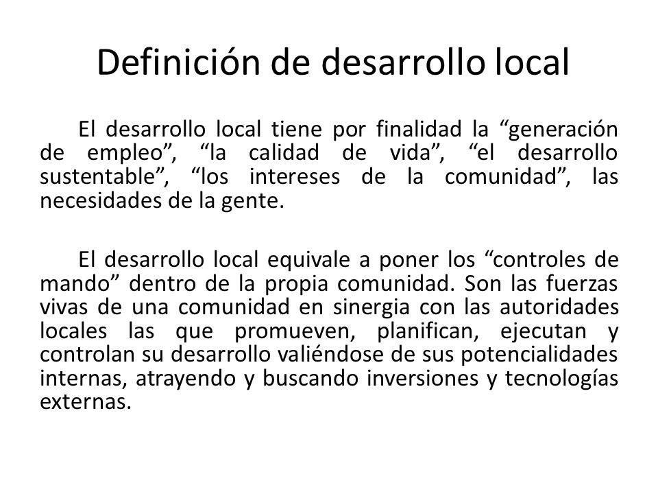 Definición de desarrollo local