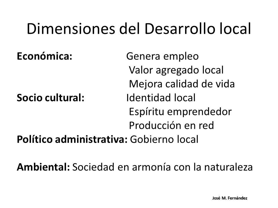 Dimensiones del Desarrollo local