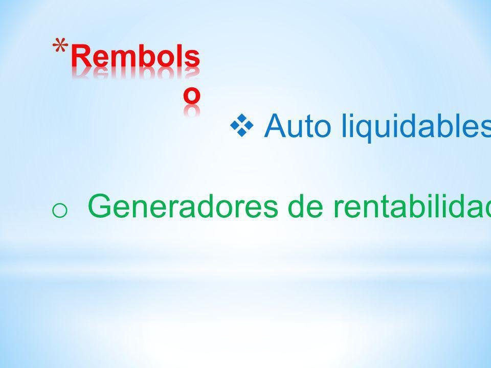 Generadores de rentabilidad
