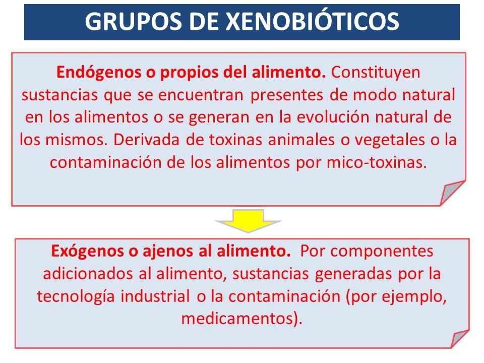 GRUPOS DE XENOBIÓTICOS