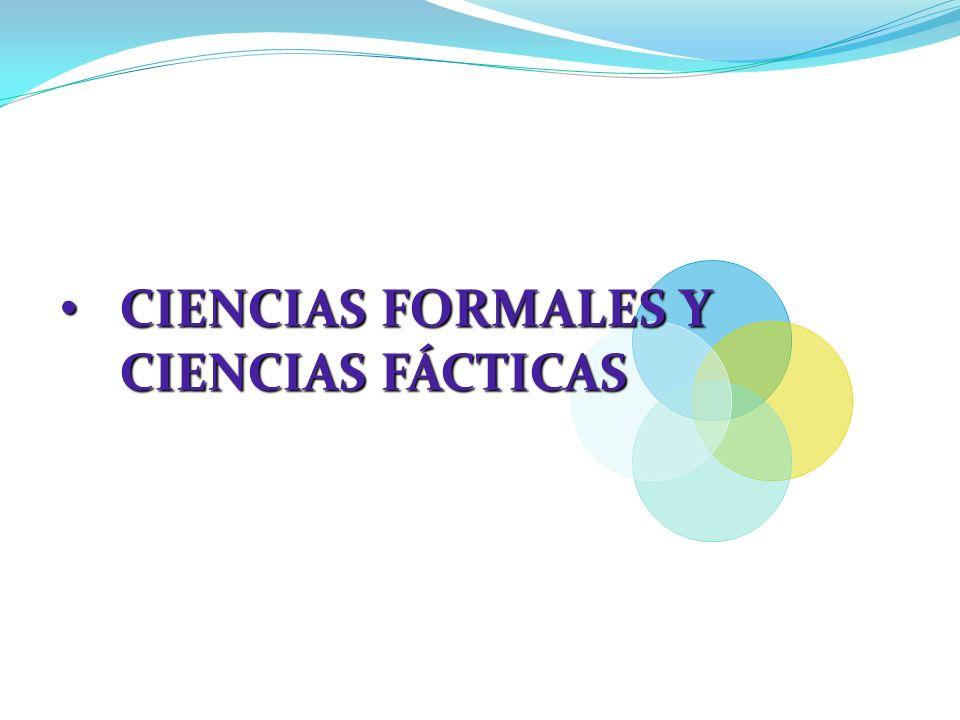 CIENCIAS FORMALES Y CIENCIAS FÁCTICAS
