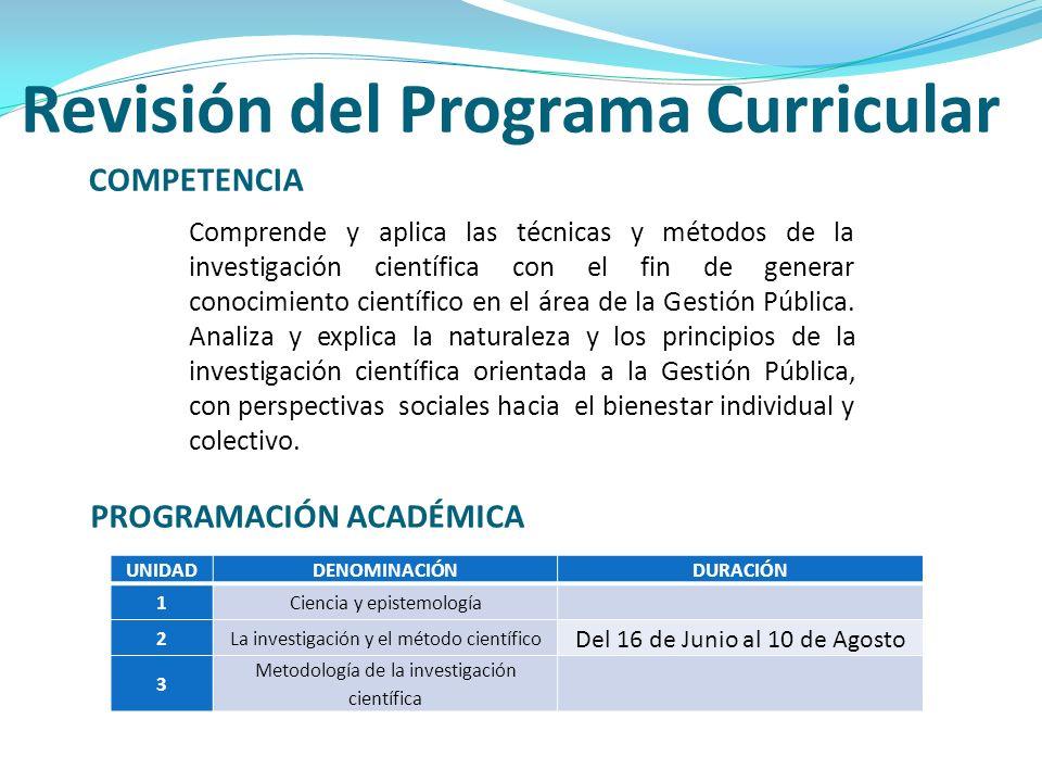 Revisión del Programa Curricular