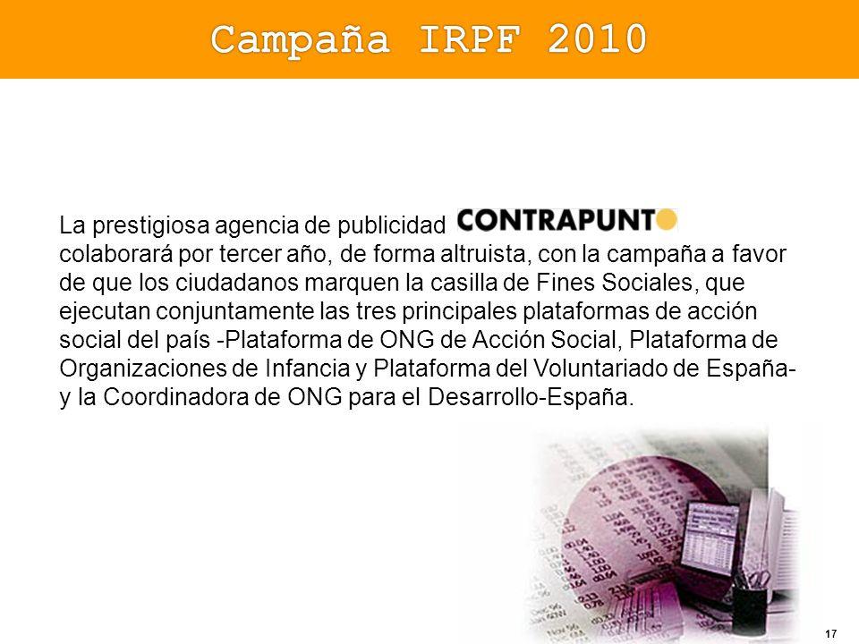 Campaña IRPF 2010 La prestigiosa agencia de publicidad