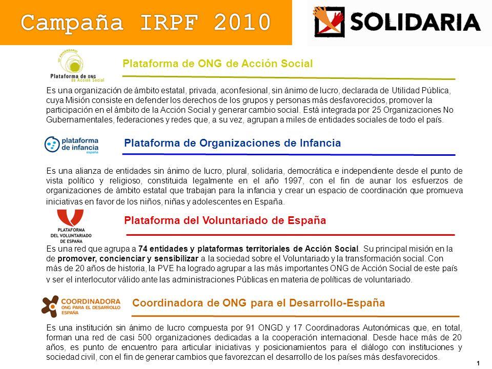 Campaña IRPF 2010 Plataforma de ONG de Acción Social