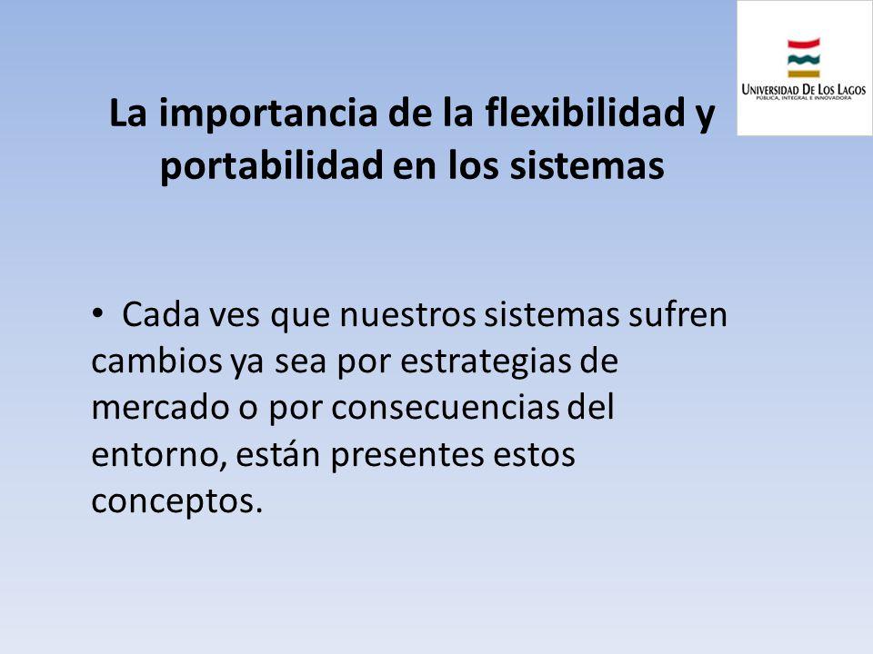 La importancia de la flexibilidad y portabilidad en los sistemas