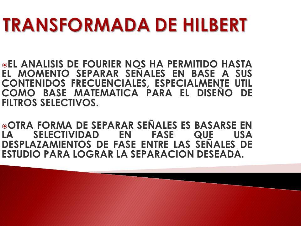 TRANSFORMADA DE HILBERT