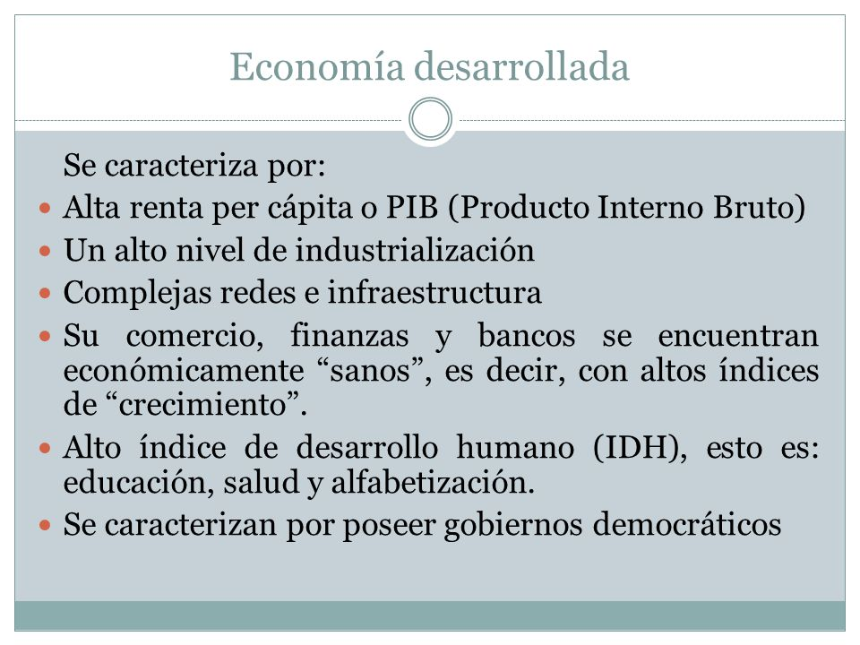 Economía desarrollada