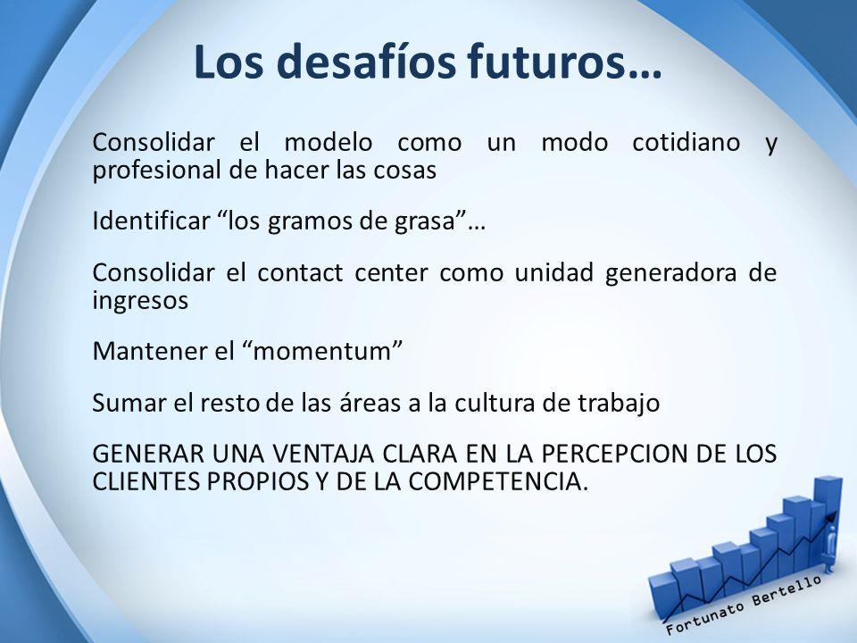 Los desafíos futuros… Consolidar el modelo como un modo cotidiano y profesional de hacer las cosas.