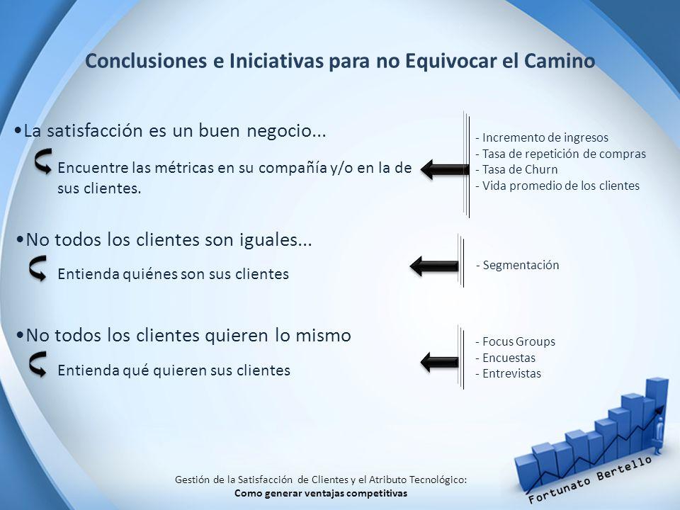 Conclusiones e Iniciativas para no Equivocar el Camino