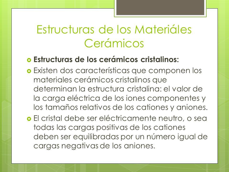 Estructuras de los Materiáles Cerámicos