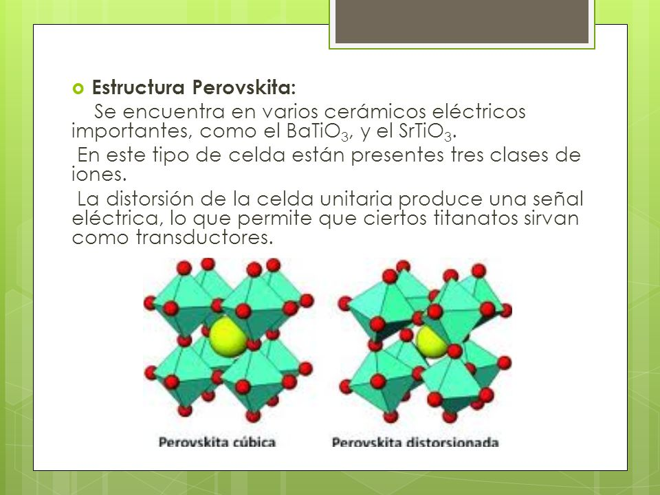 Estructura Perovskita: