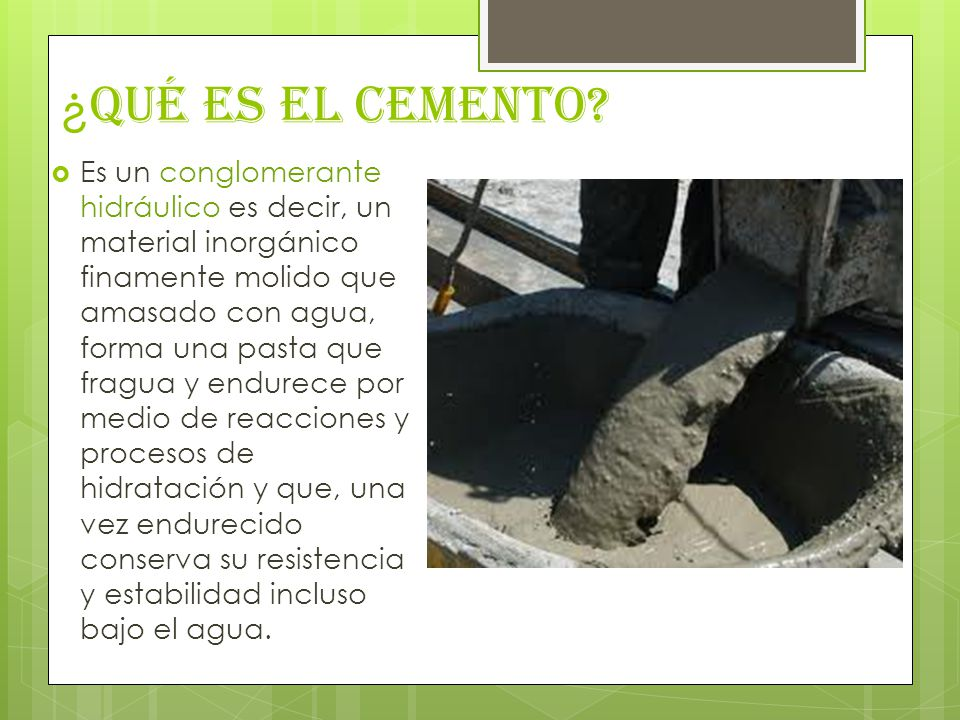 ¿Qué es el Cemento