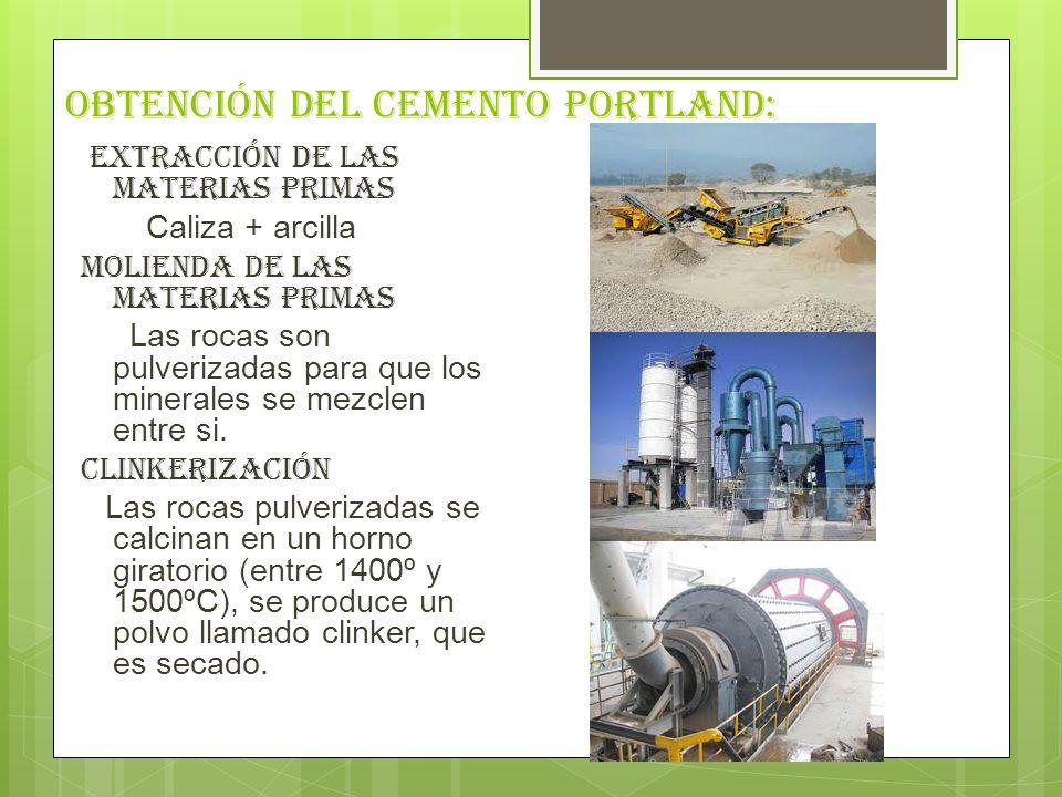 Obtención del cemento portland: