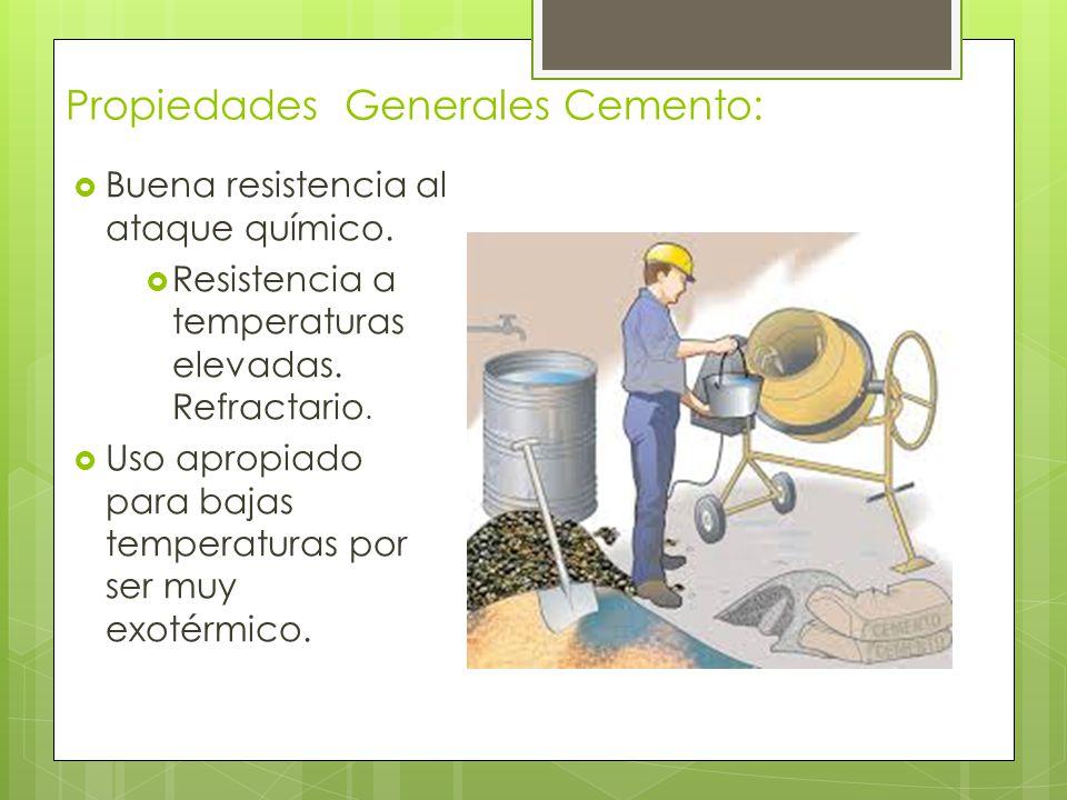 Propiedades Generales Cemento: