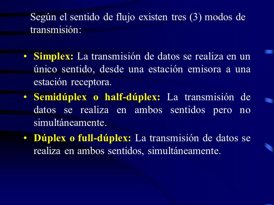 Modos de transmisión según el sentido del flujo