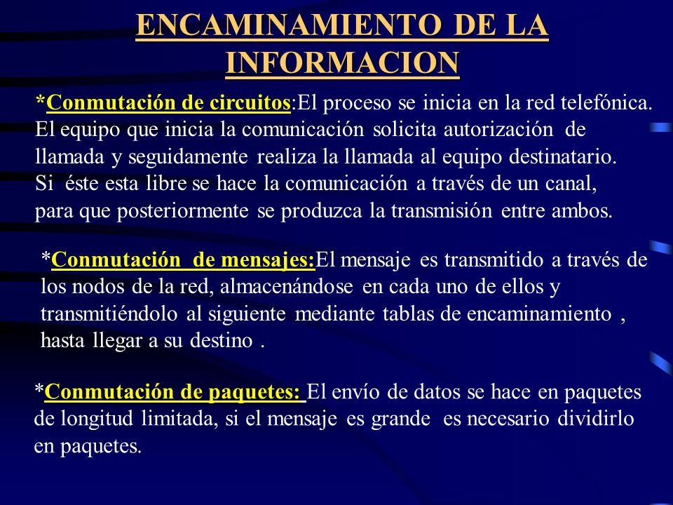 ENCAMINAMIENTO DE LA INFORMACION
