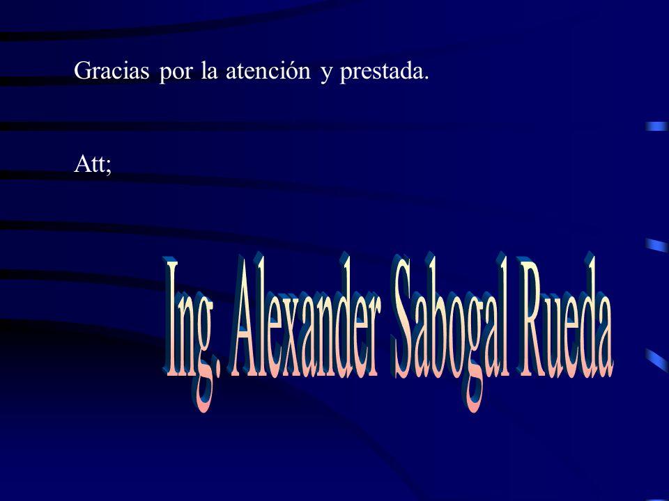 Ing. Alexander Sabogal Rueda