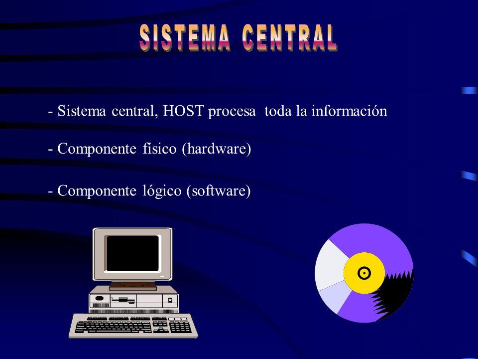 SISTEMA CENTRAL - Sistema central, HOST procesa toda la información