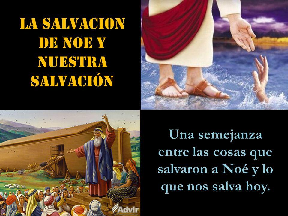 LA SALVACION DE NOE y NUESTRA salvación