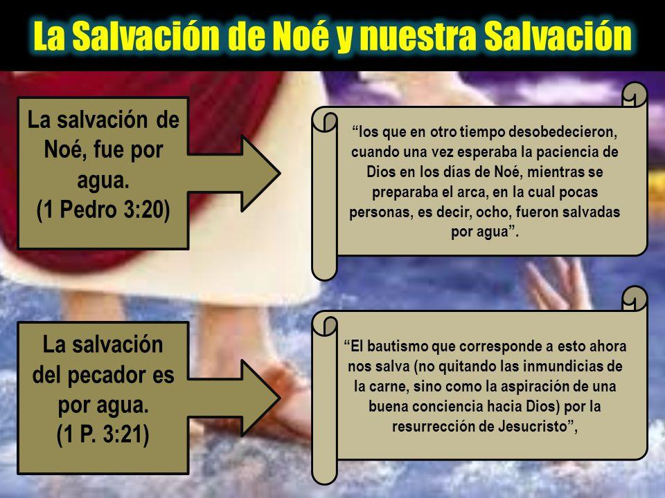 La Salvación de Noé y nuestra Salvación