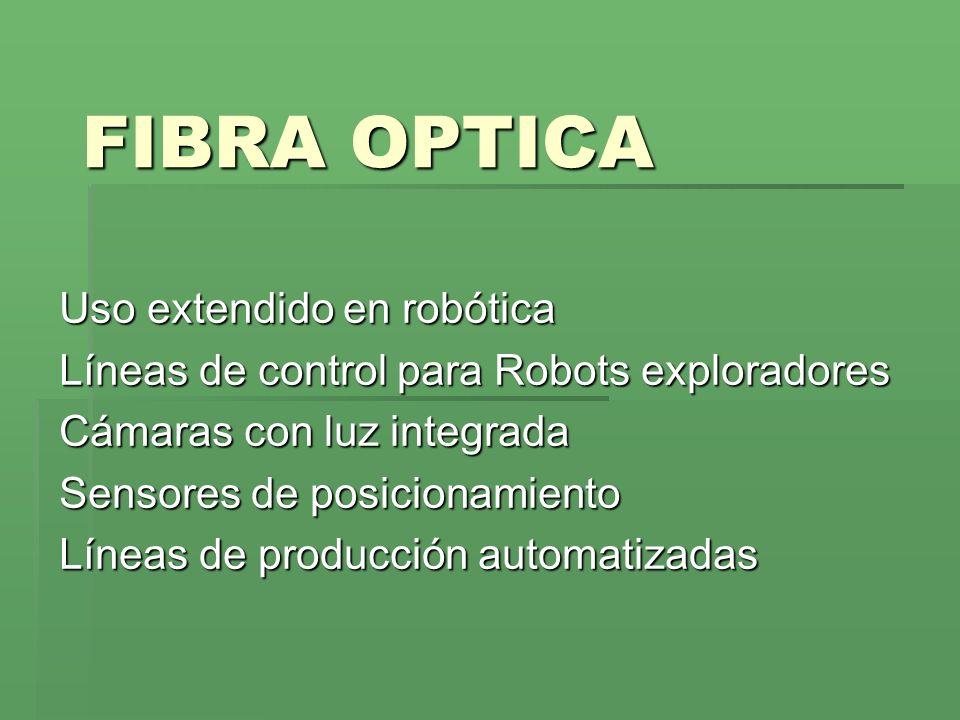 FIBRA OPTICA Uso extendido en robótica