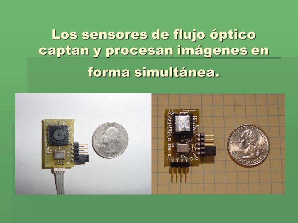 Los sensores de flujo óptico captan y procesan imágenes en forma simultánea.