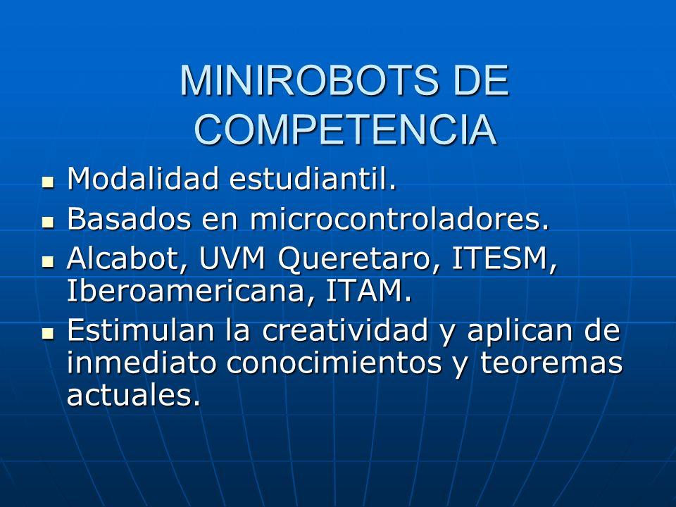 MINIROBOTS DE COMPETENCIA