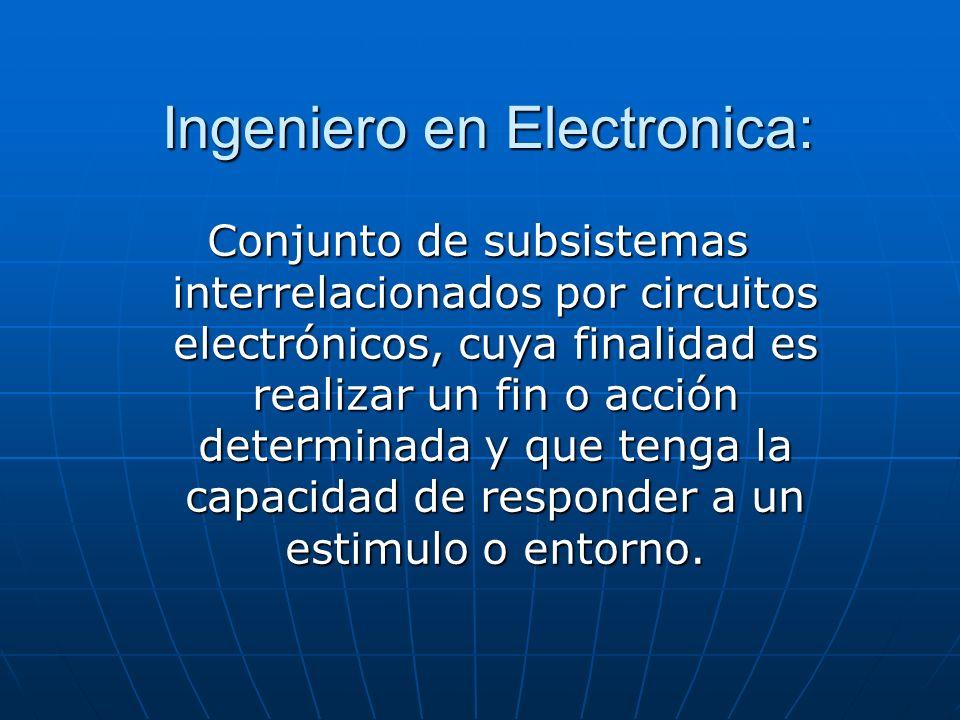 Ingeniero en Electronica: