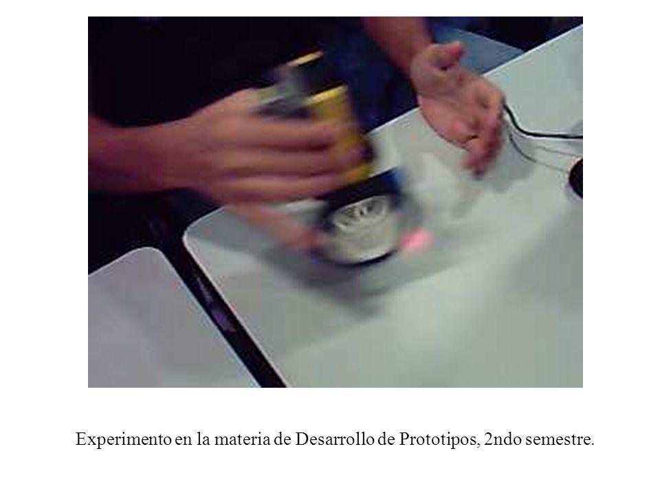 Experimento en la materia de Desarrollo de Prototipos, 2ndo semestre.
