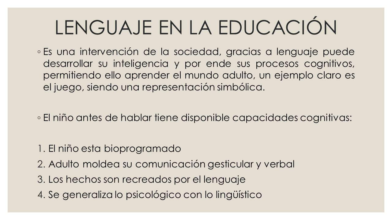 LENGUAJE EN LA EDUCACIÓN