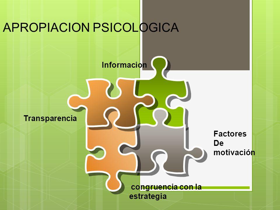 APROPIACION PSICOLOGICA