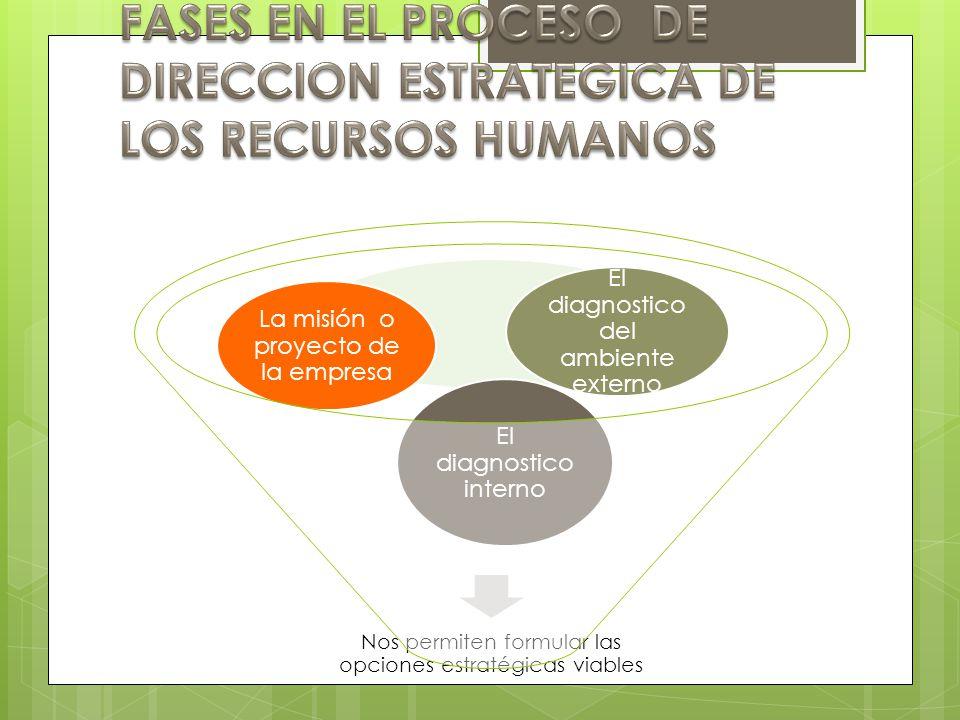 FASES EN EL PROCESO DE DIRECCION ESTRATEGICA DE LOS RECURSOS HUMANOS