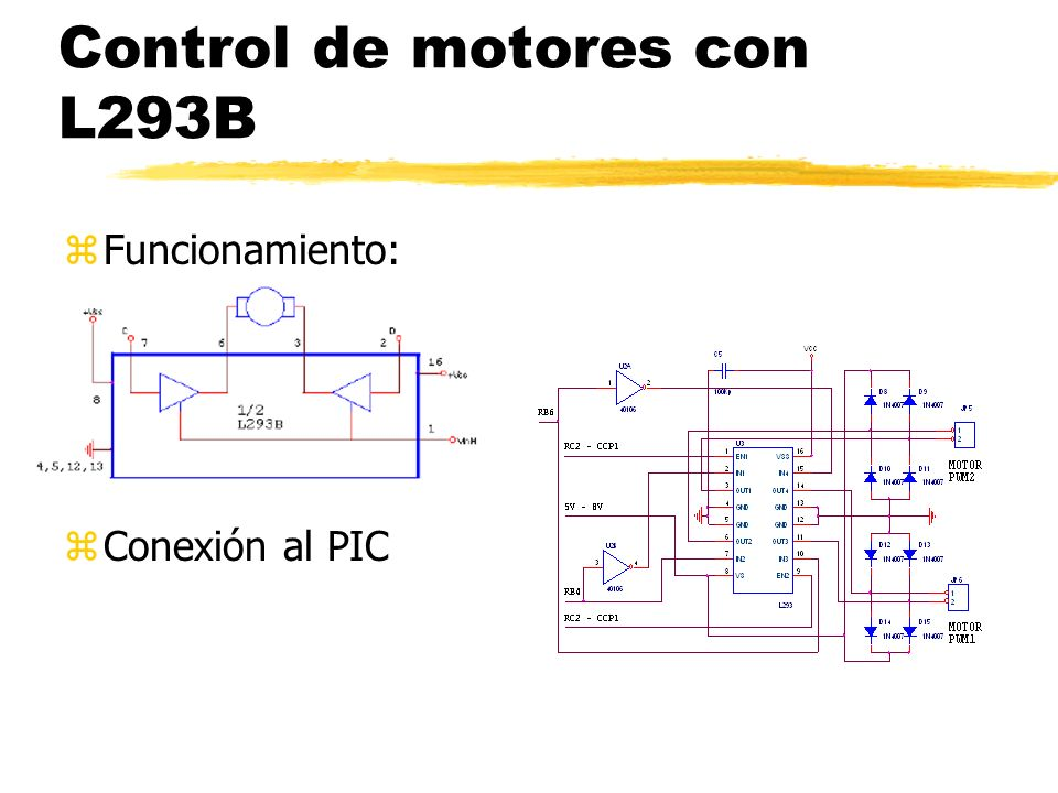 Control de motores con L293B