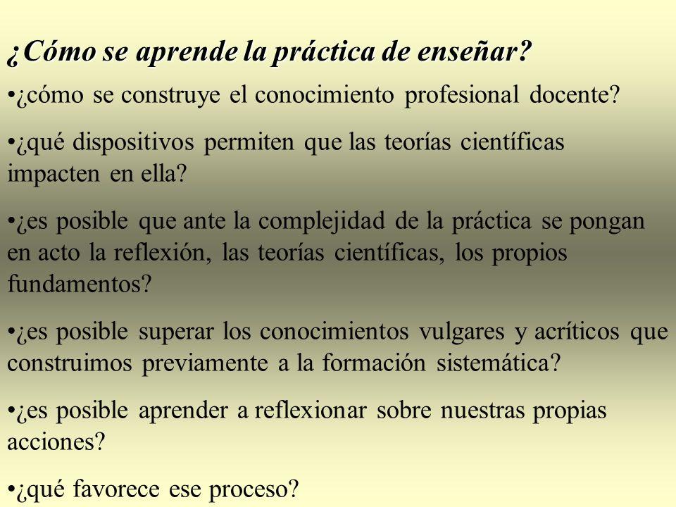 ¿Cómo se aprende la práctica de enseñar