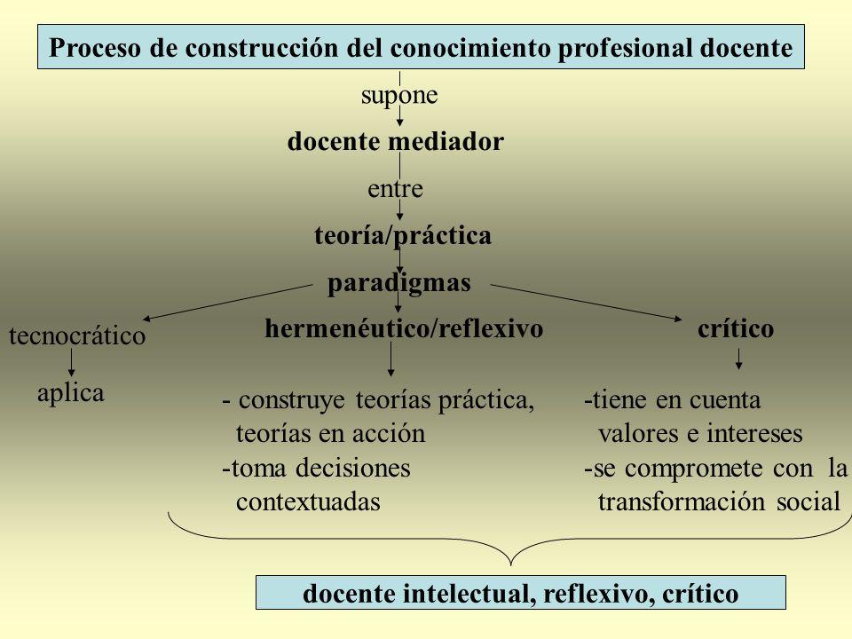 Proceso de construcción del conocimiento profesional docente