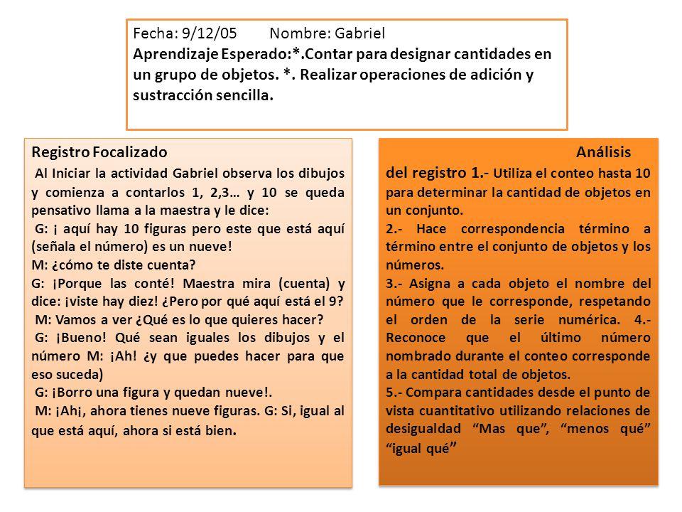 Fecha: 9/12/05 Nombre: Gabriel