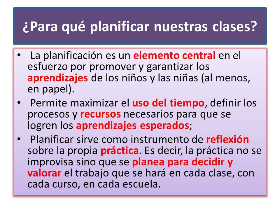 ¿Para qué planificar nuestras clases