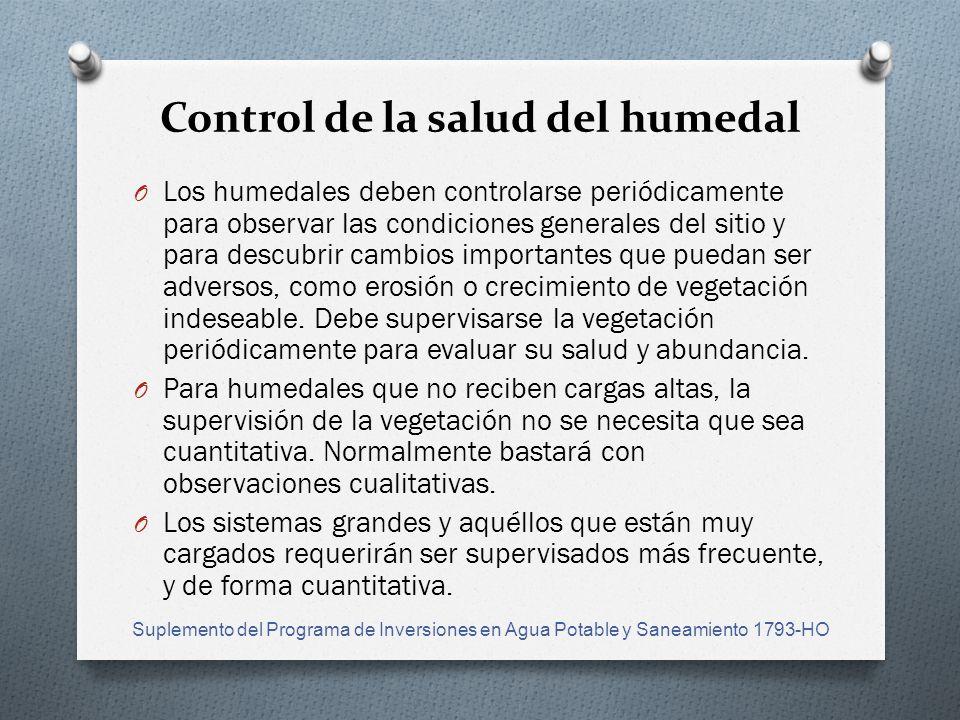 Control de la salud del humedal