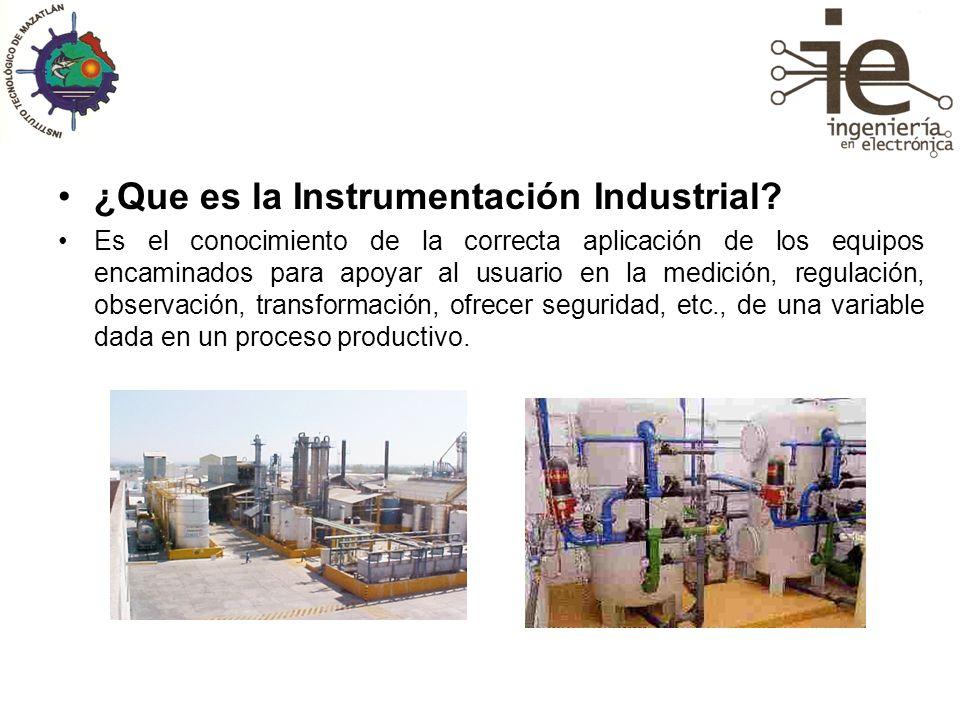 ¿Que es la Instrumentación Industrial