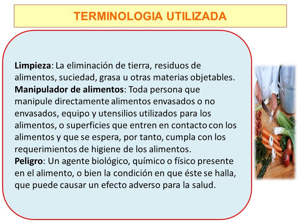 TERMINOLOGIA UTILIZADA