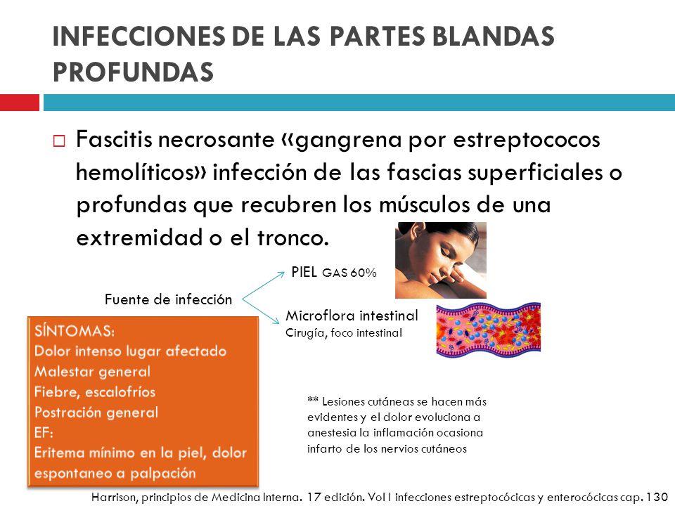 INFECCIONES DE LAS PARTES BLANDAS PROFUNDAS