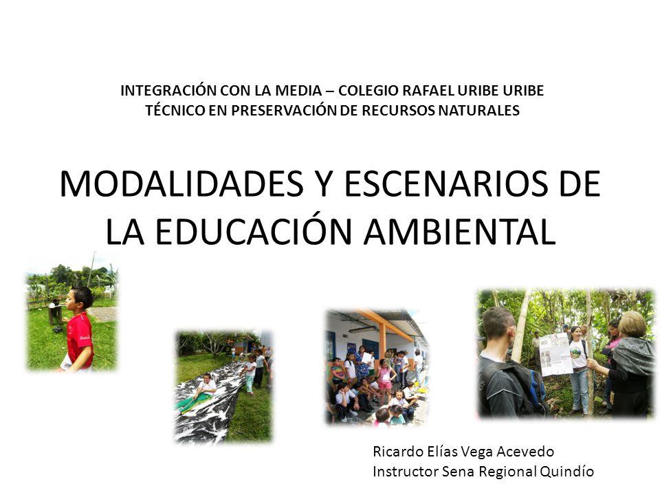MODALIDADES Y ESCENARIOS DE LA EDUCACIÓN AMBIENTAL