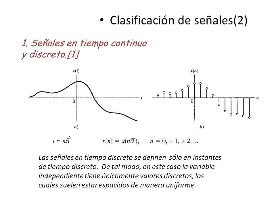 Clasificación de señales(2)
