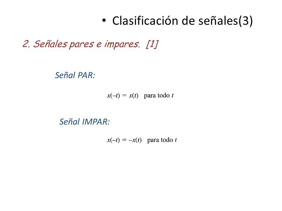 Clasificación de señales(3)
