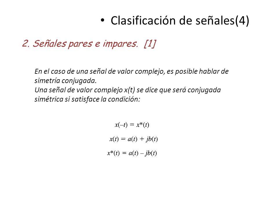 Clasificación de señales(4)