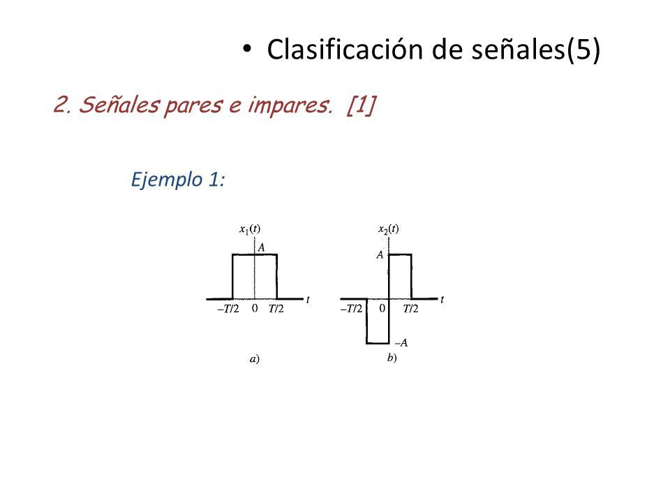 Clasificación de señales(5)